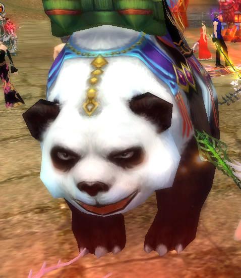 パンダの顔